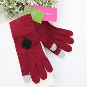 Kate Spade Deep Russet Tech Spade Gloves